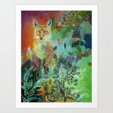 i am the forest path Art Print