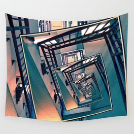 Infinite Spinning Stairs Wall Tapestry