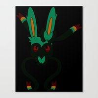 sylveon Canvas Prints featuring Sylveon Heart by Sarah Anne Cimaglio
