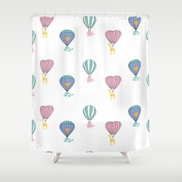 Sweet balloon dreams Shower Curtain