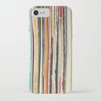 record iPhone & iPod Cases featuring Record Collection by Cassia Beck