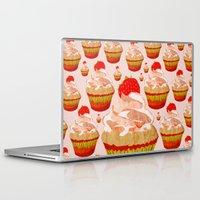 cupcakes Laptop & iPad Skins featuring Cupcakes by Alexandra Baker