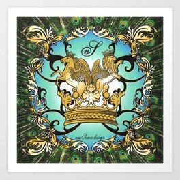 Royal Horse & Leo - animalprint Art Print