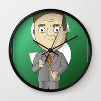 better call saul Wall Clocks featuring Better Call Saul! by Brandon Juarez