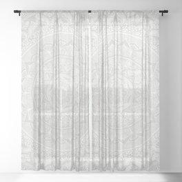 Mandala Soft Gray Sheer Curtain