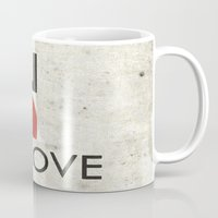 onesie Mugs featuring BE IN LOVE by Lulla