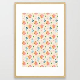 Ma-Ma Monstera: Orange Creamsicle Framed Art Print