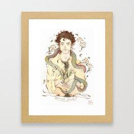 Bob Dylan - Fennel Seed Framed Art Print