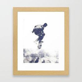 Simon- Kickflip in the Clouds Framed Art Print