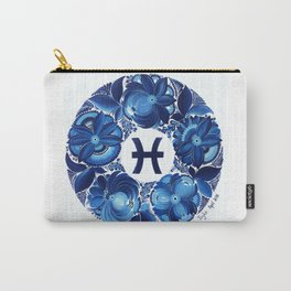 Pisces in Petrykivka Style (with signature) Carry-All Pouch