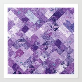 Abstract Geometric Background #30 Art Print