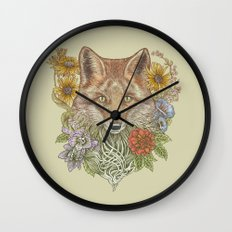 Fox Garden Wall Clock