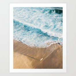 The Surfer and The Ocean Art Print