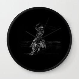Cowboy Roping Wall Clock