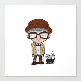 Cat and a Hat Canvas Print