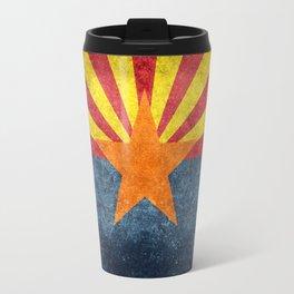 Flag of Arizona, Vintage Retro Style Travel Mug