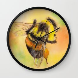 Rusty Patched Bumble Bee Wall Clock