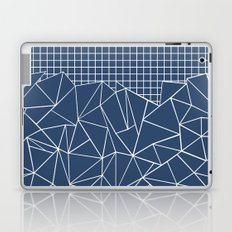 Ab Outline Grid Navy Laptop & iPad Skin