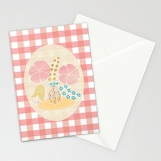 Hexagon floral 4 Stationery Cards