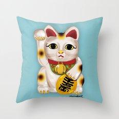 Lucky Neko Throw Pillow