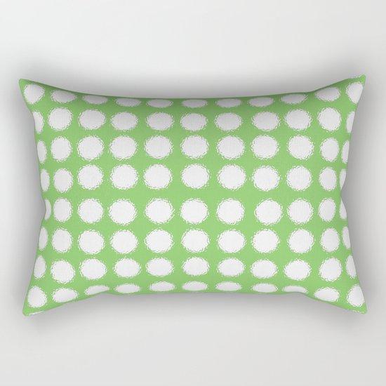 milk glass polka dots in light green Rectangular Pillow