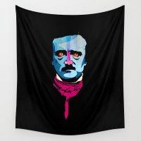 poe Wall Tapestries featuring Poe by Alvaro Tapia Hidalgo