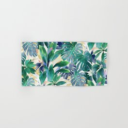 Golden Summer Tropical Emerald Jungle Hand & Bath Towel