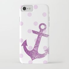 GLITTER ANCHOR AND DOTS in PINK Slim Case iPhone 7