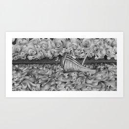 Ruff Seas Art Print