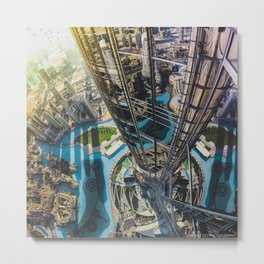Dubai from the tallest building in the world Metal Print