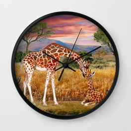 Tall Love From Above Wall Clock