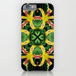 Daylily Mandala - Hemerocallis 'Free Wheelin' k7 iPhone Case