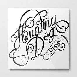 hunting dog logo  Metal Print