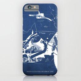 Motorcycle blueprint,2010, Moto Guzzi Stelvio, 1200 4V,poster,man cave decoration,vintage art iPhone Case