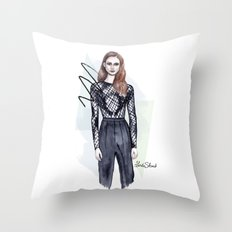 From the catwalk Throw Pillow