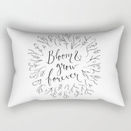 Bloom and Grow Forever Rectangular Pillow