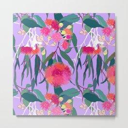 Australian Gumnut Eucalyptus Floral in Lilac Orchid Metal Print