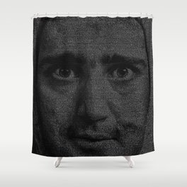 Man on the Moon Screenplay Print Shower Curtain