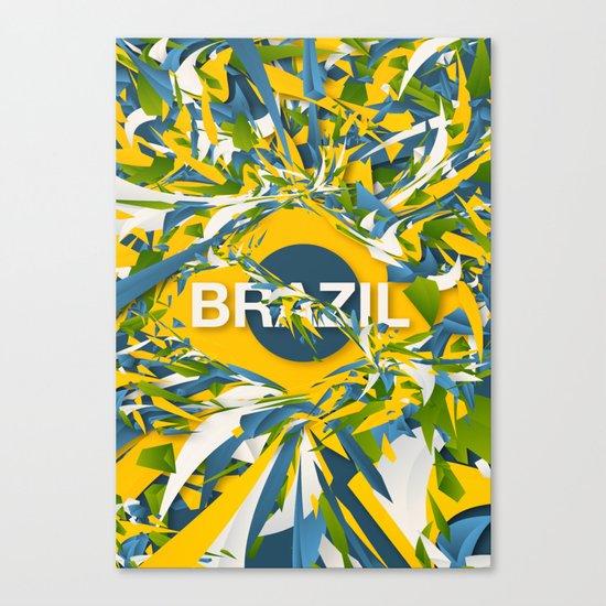Abstract Brazil Canvas Print