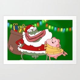 Merry Xmas Peepoodo Art Print