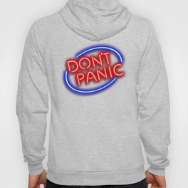 "Hitchhiker's Guide - ""Don't Panic"" Neon Sign Hoody"
