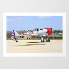 GEICO Skytypers North American SNJ-2 Texan N65370 at Andrews Air Force Base Art Print