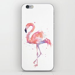 Flamingo Watercolor iPhone Skin