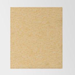 Woven Burlap Texture Seamless Vector Pattern Yellow Throw Blanket
