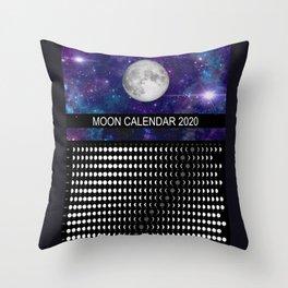 Moon Calendar 2020 Throw Pillow