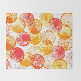 Saffron and Oranges Throw Blanket
