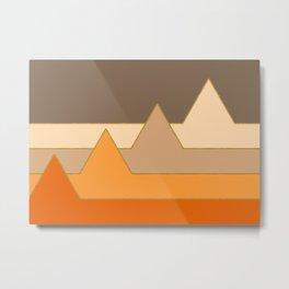 Orange Mountains #society6 #decor #buyart Metal Print