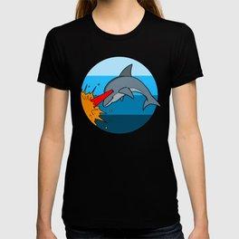 Laser Dolphin 1980s Retro Sci-Fi Design T-shirt