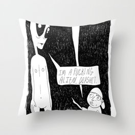 Stupid Questions Throw Pillow