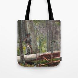 Winslow Homer - Hunter in the Adirondacks, 1892 Tote Bag